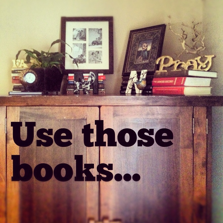 My husband had all these books in boxes, oh no more-