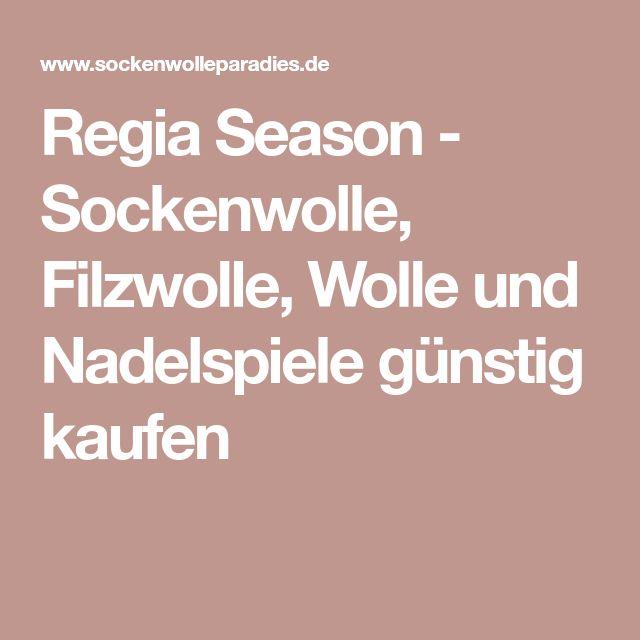 Regia Season - Sockenwolle, Filzwolle, Wolle und Nadelspiele günstig kaufen