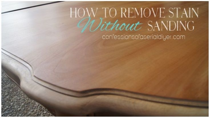 How to Remove Stain without Sanding!