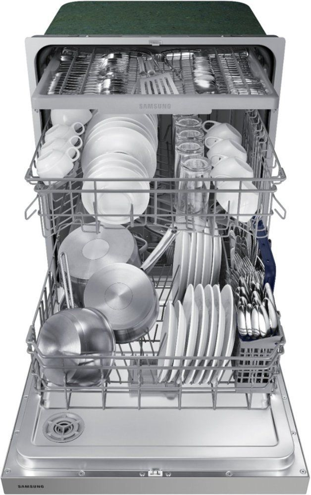 Builtin Control Dishwasher Dw80n3030us Front Old Dishwasher Ideas Samsung Stainless Steel Built In Dishwasher Samsung Dishwasher Black Dishwasher