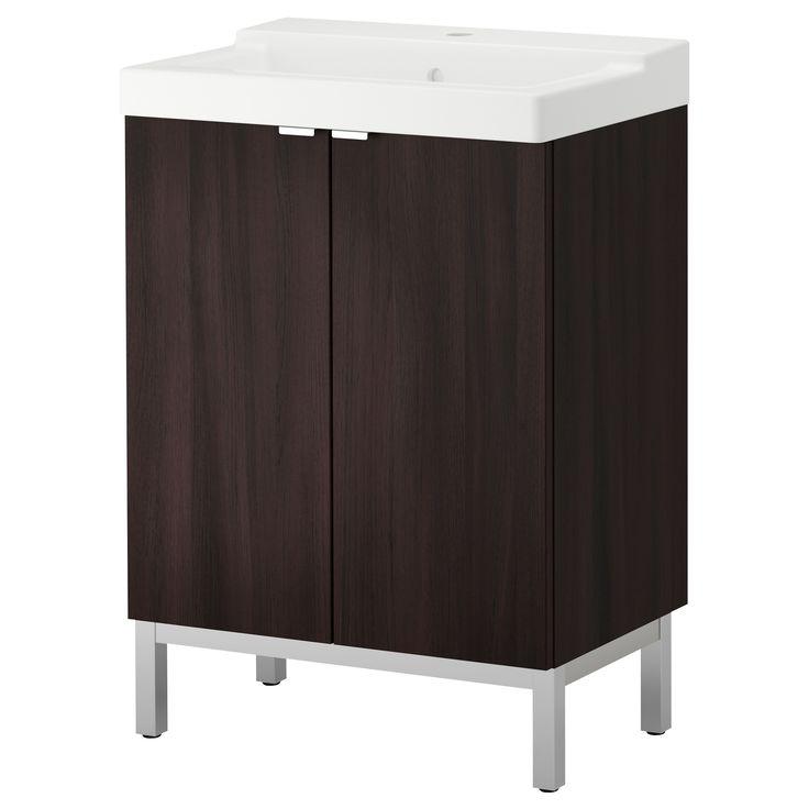 Lill Ngen T Lleviken Sink Cabinet With 2 Doors Black Brown Ikea Bathroom Vanity Modern
