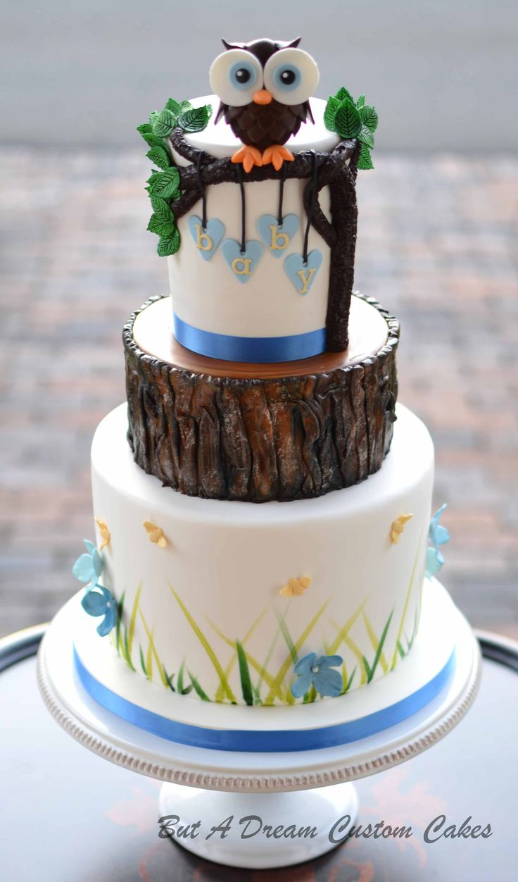 woodland themed baby shower cake 17 best images about but a custom cakes on 1496