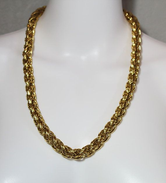 Vintage Givenchy Gold Chain Necklace Vintage Designer Jewelry Gold Chain Necklace Vintage Givenchy
