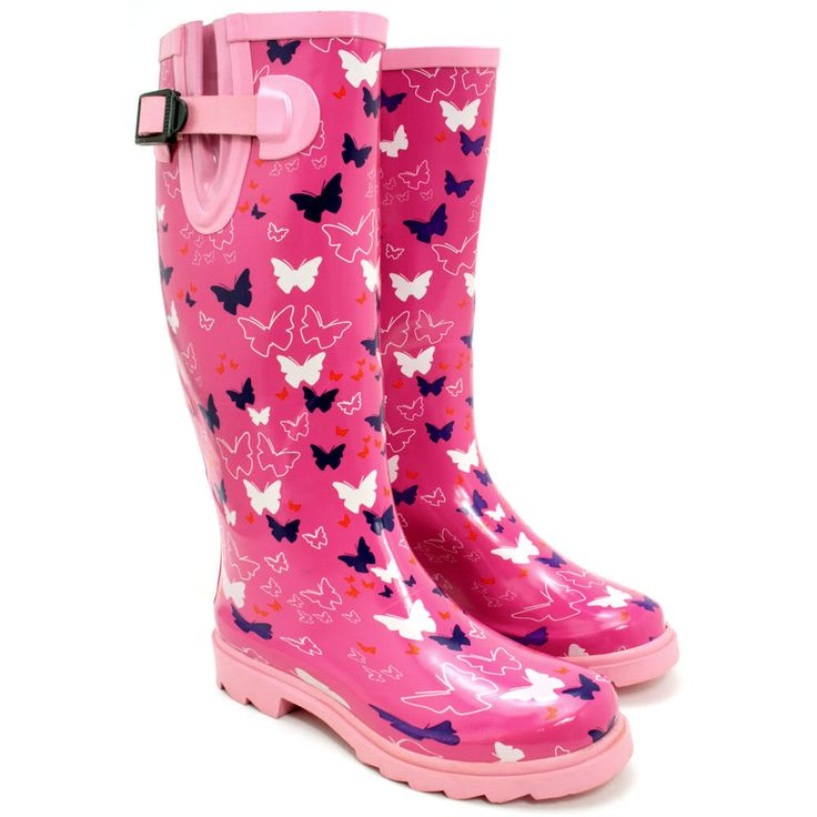New Womens Festival Welly Wellies Wellington Flat Knee High Rain Boots Size | eBay