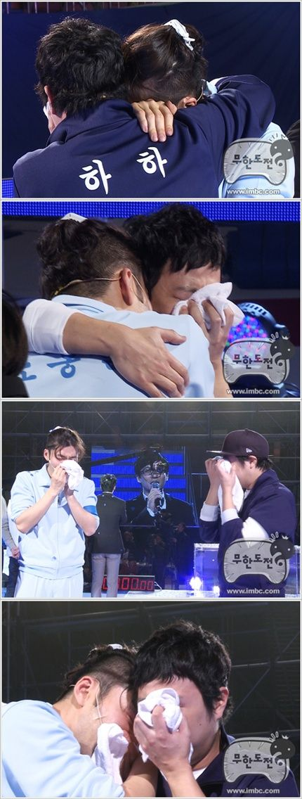 Noh Hong Chul %26 HaHa shed tears during their final battle round on 'Infinity Challenge'