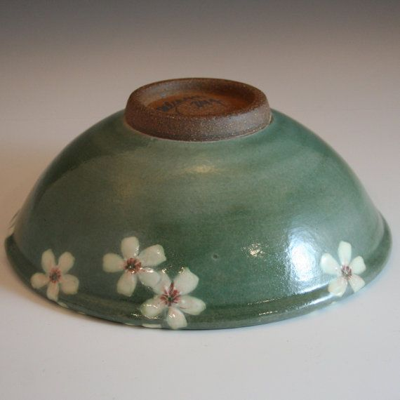 handmade stoneware small serving bowl w/ by JCalcagnoPottery
