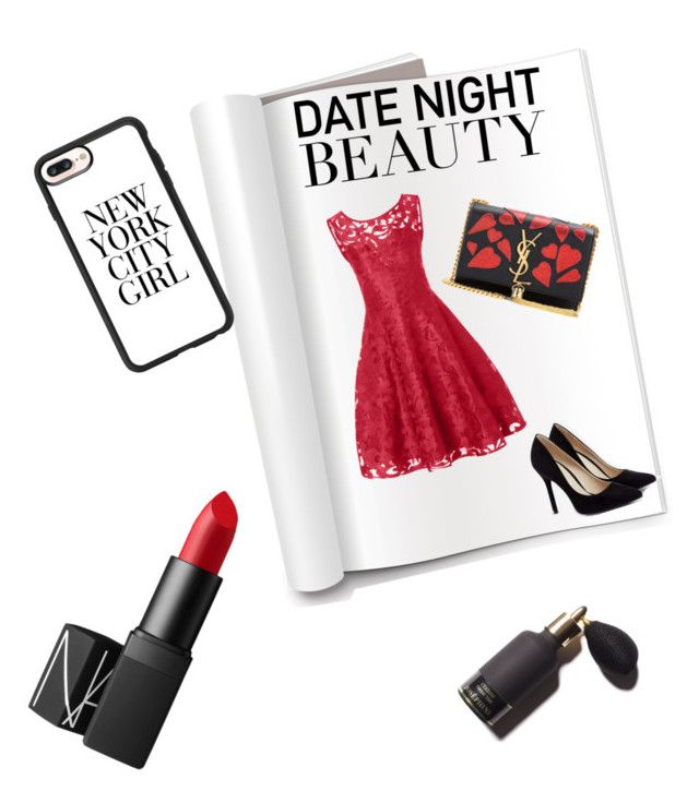 """""""Untitled #1"""" by dragutdora on Polyvore featuring beauty, JustFab, Yves Saint Laurent, NARS Cosmetics and Casetify"""