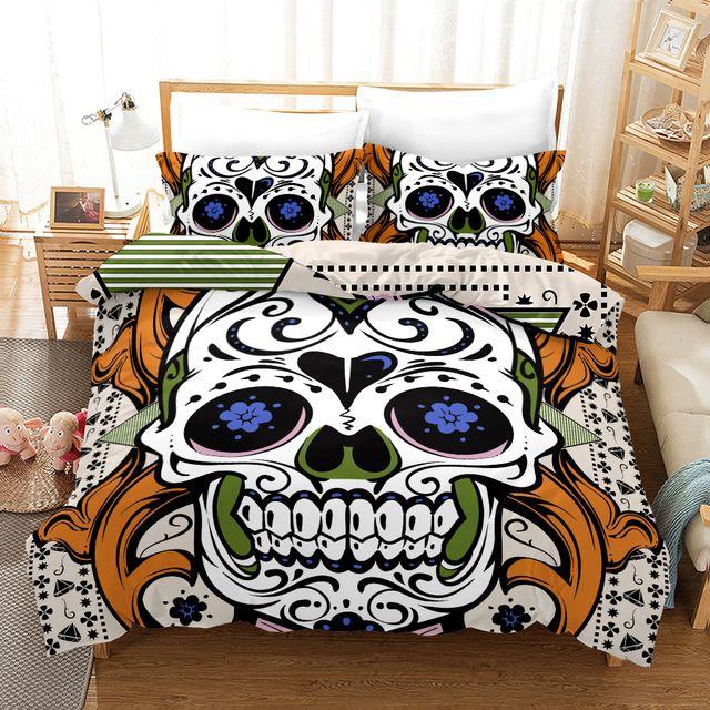 Sugar Skull Bedding Sets South Africa With Free Shipping Worldwide Bedding Sets Duvet Bedding Sets Girl Crib Bedding Sets