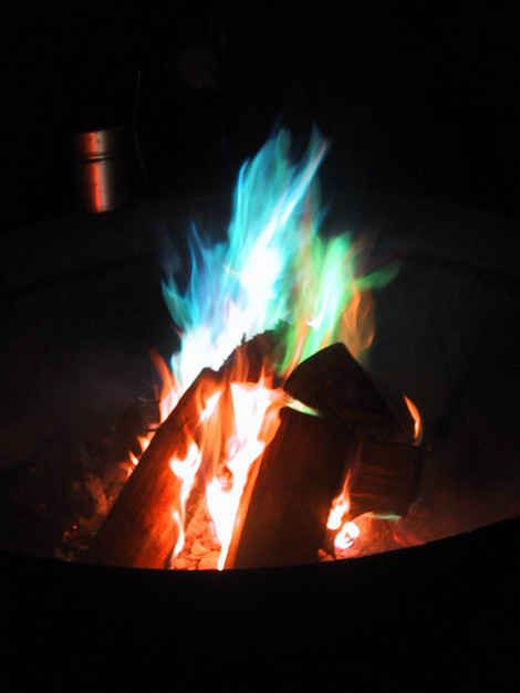 Make treated pine cones for colored fire in your fire pit. | 41 Cheap And Easy Backyard DIYs You Must Do This Summer