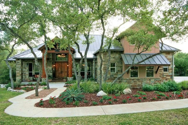 texas hill country home design | 4400 sq ft/2.25 acres/4 bd/3.5 bath/office/playroom/lg covered patio ...