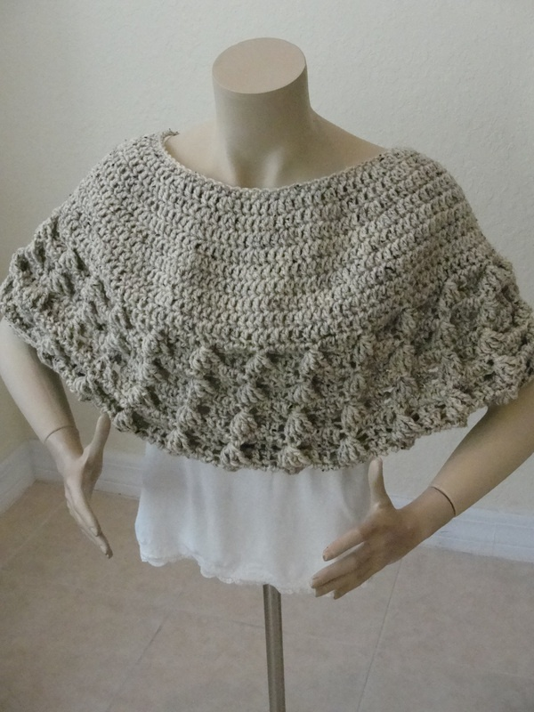 crocheted pullover shawl