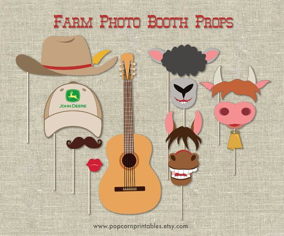 Hey, I found this really awesome Etsy listing at https://www.etsy.com/listing/176884305/farm-photo-booth-props-diy-instant
