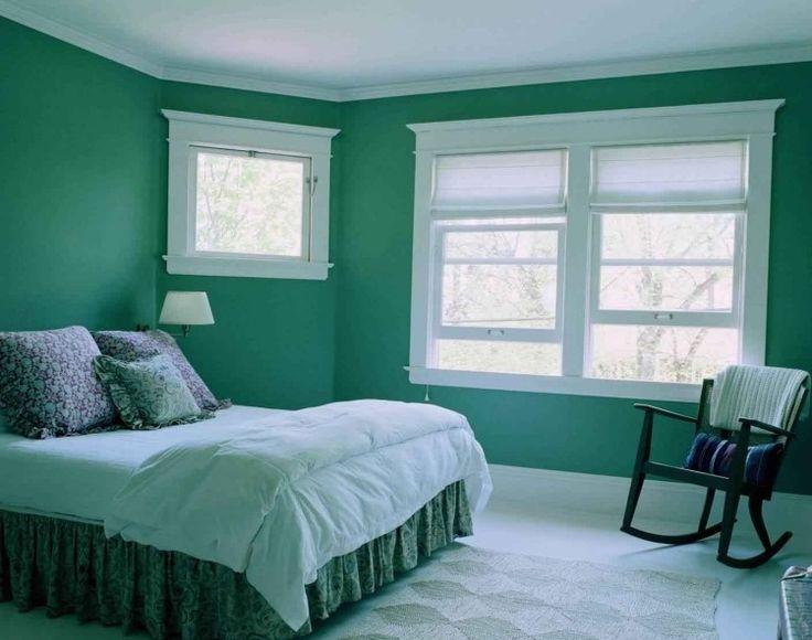 couleur de peinture audacieuse dans la chambre: le turquoise
