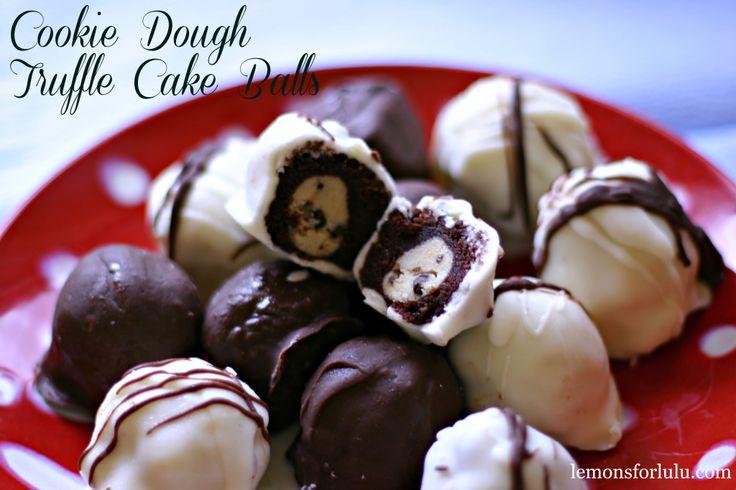 Cookie Dough Truffle Cake Balls -wowza!