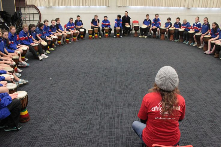 LOVE working with the kids at Luther College each year! These year 7 students concentrated on learning djembe technique, traditional West African rhythms, dance, and the unique relationship between drummer and dancer!