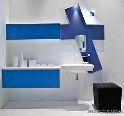 awesome Mavi Banyo Modelleri
