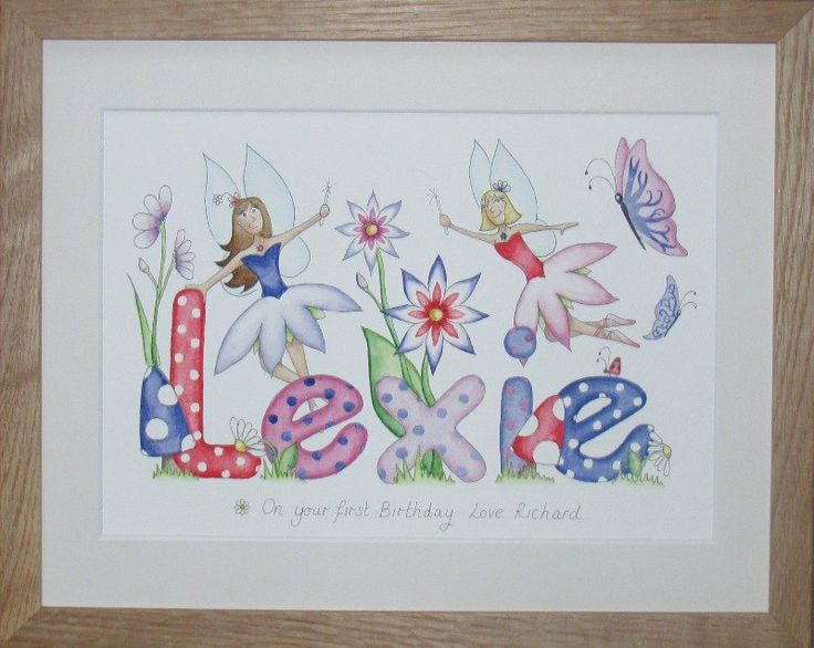 Lexie fairy name painting