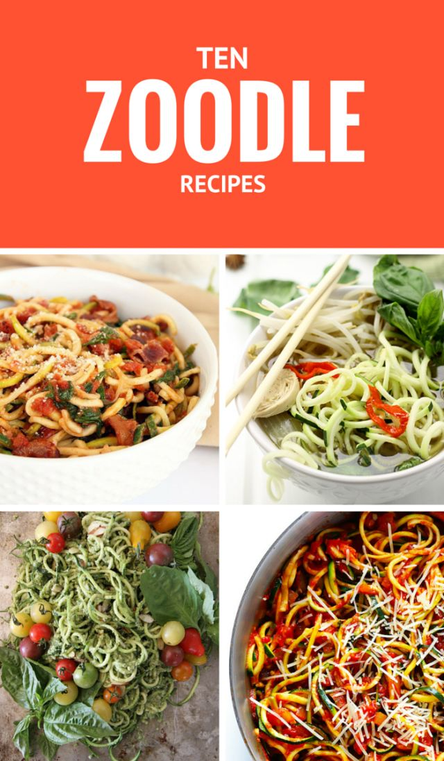 10 Delicious Zoodle (Zucchini Noodle) Recipes #whole30