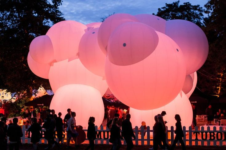 BIG inflates bubble-like pavilion for roskilde festival and CHART art fair