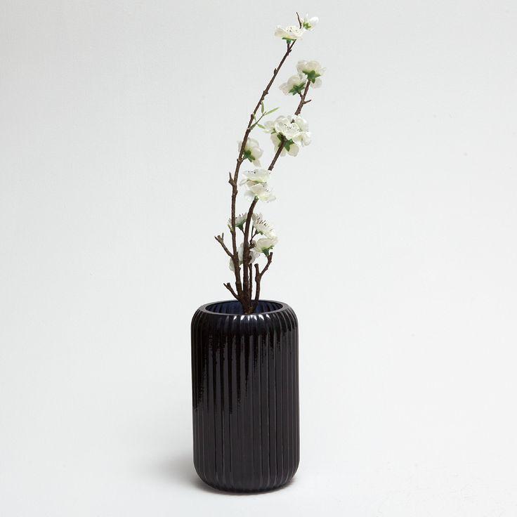 Image 2 of the product BLACK STRIPED TRANSPARENT VASE