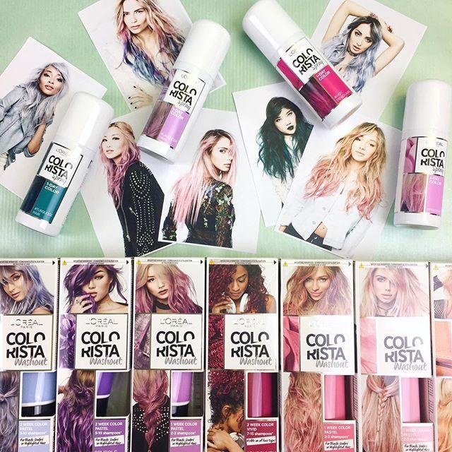 Jippie!!! Jetzt wird's bunt mit #Colorista Mehr zum farbigen Frisurentrend & den neuen Produkten Link in Bio #ColourHair #unicornlook #rainbowhair #colourpop #vonPastellbisKnalligfürjedenwasdabei #pinkhair #coloristas #neubeidm