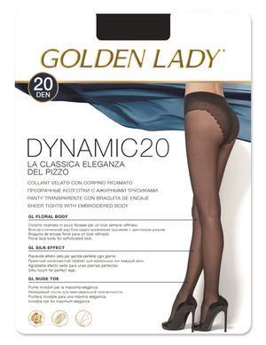 Modelo: DYNAMIC Panty transparente con lycra de 20 deniers. Braguita de encaje, con costura confort y puntera invisible.