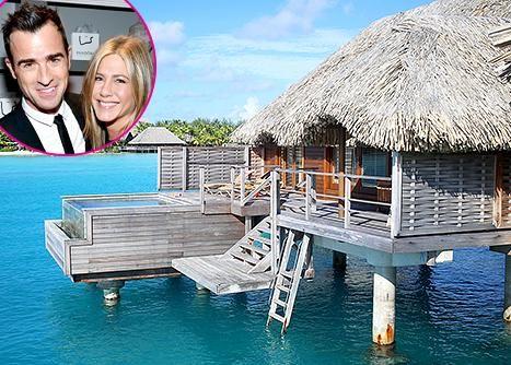 Luna di miele Jennifer Aniston: le prime immagini del viaggio di nozze a Bora Bora