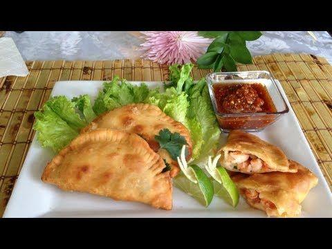 empanadas de camaron estilo colima y nayarit - YouTube
