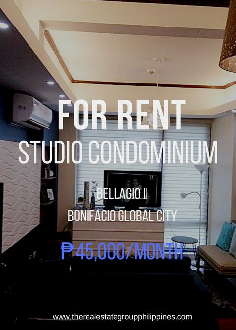 For Rent  Studio Condominium - Bellagio Two 45000/Month  http://ift.tt/2t4s5Kl