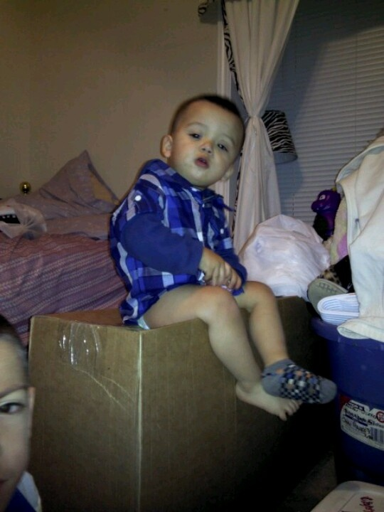 Ethan chillin on the box lol