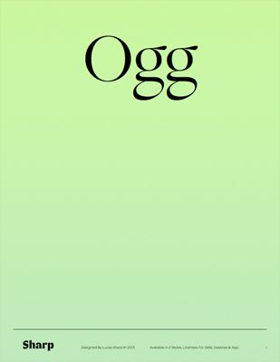 Ogg / by Sharptype