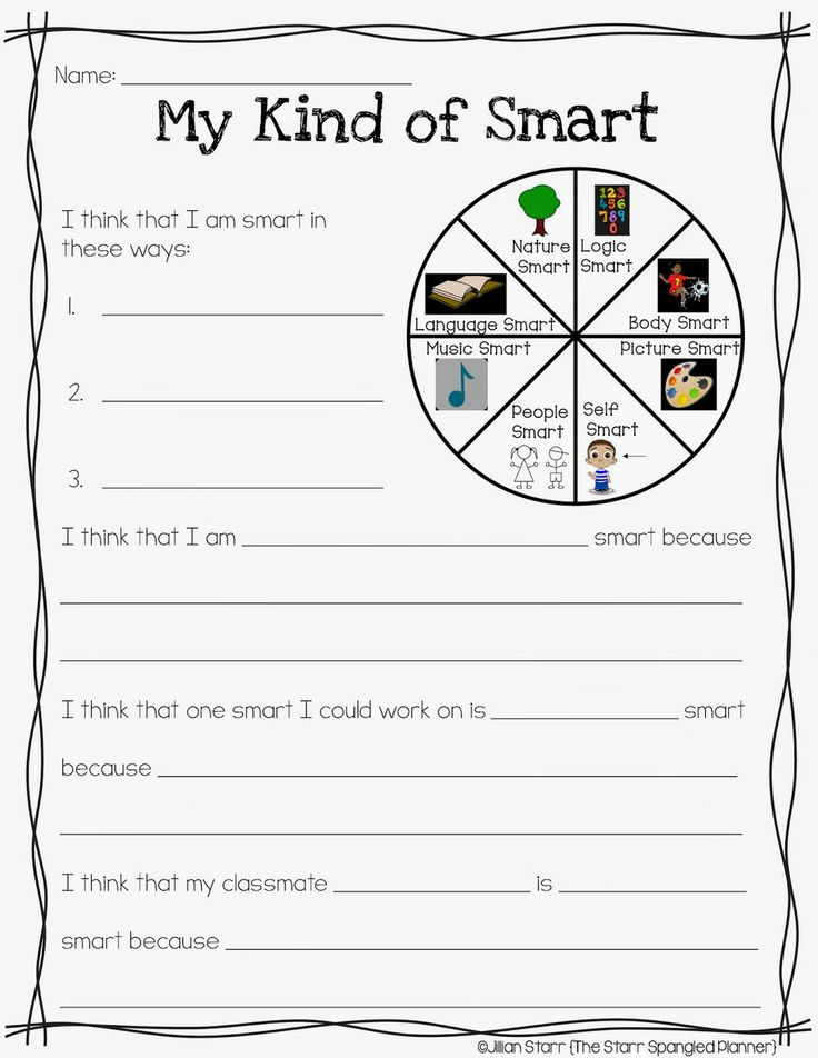 Classroom Activities Elementary Students ~ Multiple intelligence test for elementary students