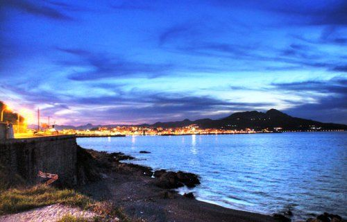 Spectacular View of Ceuta Spain after the sunset
