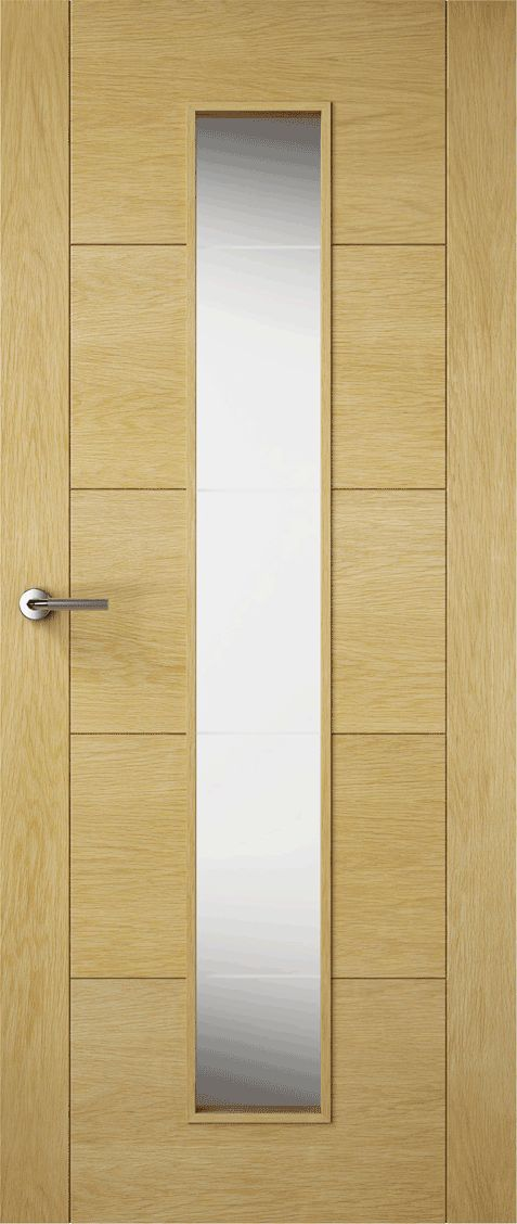 Premdor Contemporary Oak Milano Solid Glazed (Fully Finished) Doors & Best 25+ Fully glazed doors ideas on Pinterest | Contemporary ... Pezcame.Com