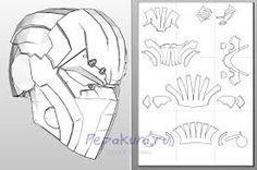 Starting my pepakura deathstroke helmet Stage 1:Download pepakura Viewer.It is free but you can buy a better version pepakura designer but that costs.I use pepakura viewer.Then print the shape templates out.