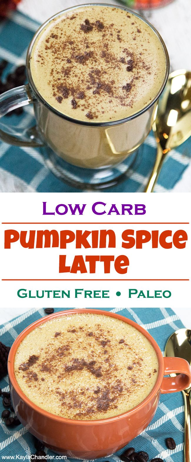 Low Carb Pumpkin Spice Latte - Gluten Free & Paleo Option!... This is super creamy and frothy and chock-full of healthy fats.