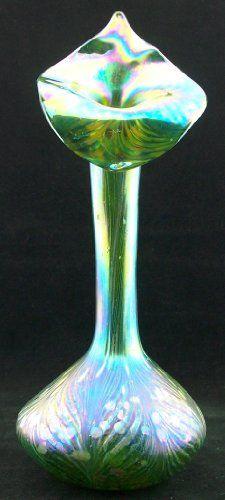 Glasvase im Jugendstil - Art Nouveau - mundgeblasen - handgearbeitet Cristal Ullmann Paris http://www.amazon.de/dp/B009XH22XE/ref=cm_sw_r_pi_dp_-f5uwb0CKY4MC