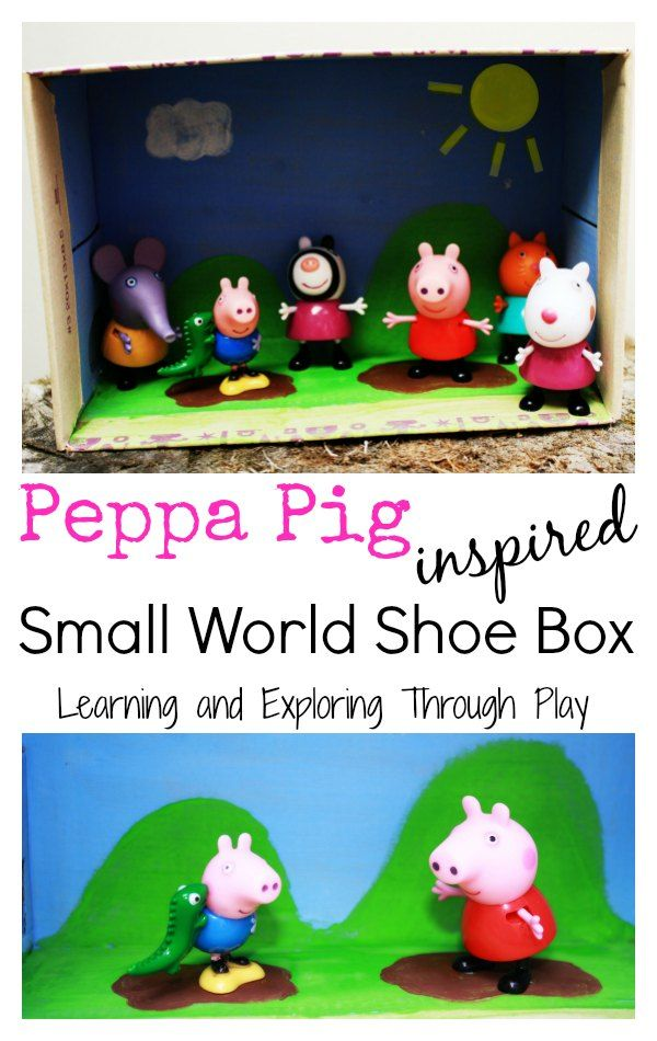 Learning and Exploring Through Play: Peppa Pig Small World Shoe Box
