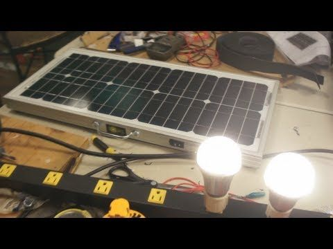Make your own Sol N1 portable solar panel with built in outlet. Just plug your stuff in! This guy is generous to share when he could be making big money on this if he sold his design. Thanks!
