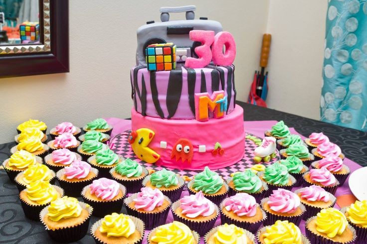 Back to the 80's birthday cake