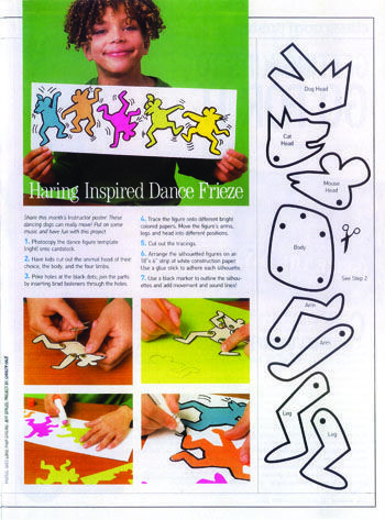 """Keith Haring inspired lesson … love the """"paper doll"""" pieces to work with! Might have kids make their own so everyone's is unique. – Heike M"""