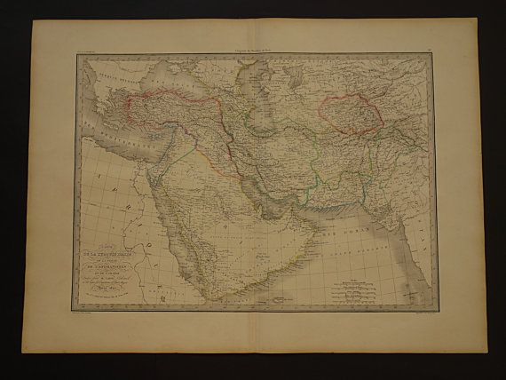 ASIA large map of Ottoman empire  1842 antique by VintageOldMaps