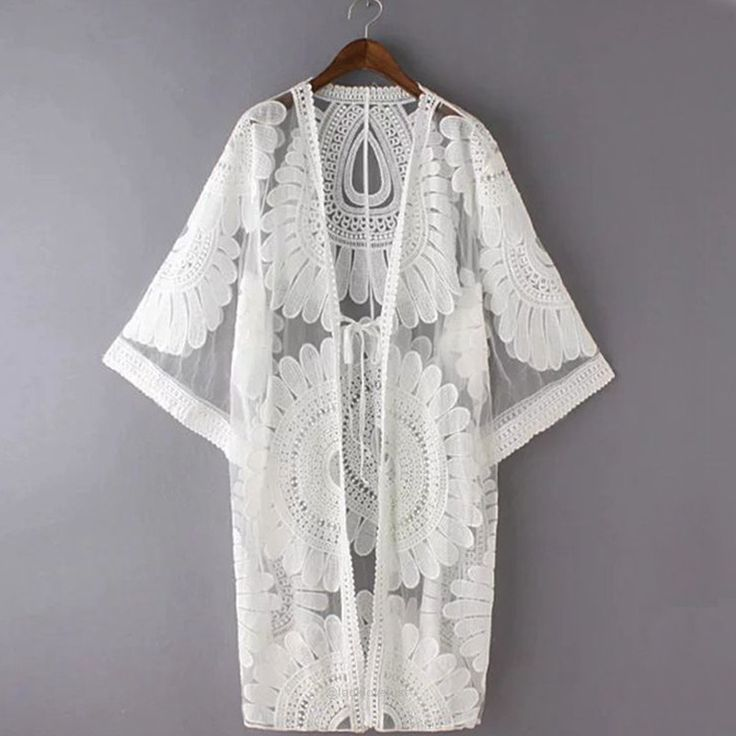 Floral Embroidery Bikini Cover Up Robe-Cover-Ups-Look Love Lust, https://www.looklovelust.com/products/floral-embroidery-bikini-cover-up-robe