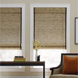 Tortoise Natural Cordless Bamboo Roman Shade | Overstock.com Shopping - The Best Deals on Blinds & Shades