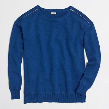 <ul><li>Cotton.</li><li>Hits at waist.</li><li>Long sleeves.</li><li>Shoulder zips.</li><li>Machine wash.</li><li>Online exclusive.</li><li>Import.</li></ul>