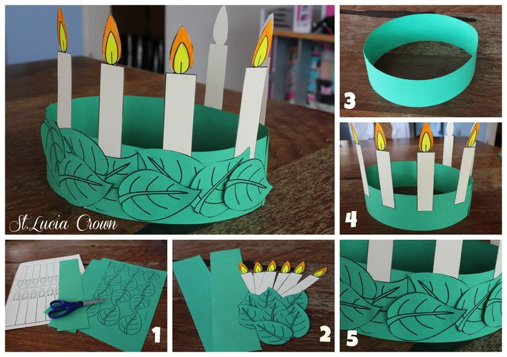 St. Lucia Crown Template, and Christmas in Sweden. $