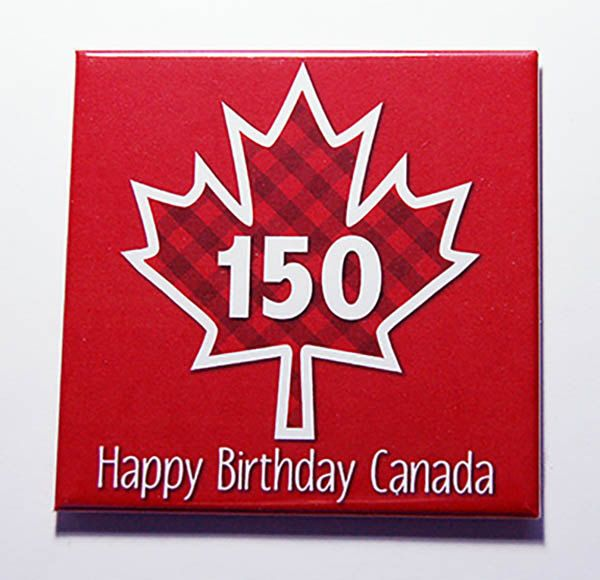 Canada 150 Magnet, Magnet, Canada 150th, Kitchen Magnet, Fridge magnet, Canada Day, Maple Leaf, Red, White, Canada's 150th birthday (7127) by KellysMagnets on Etsy