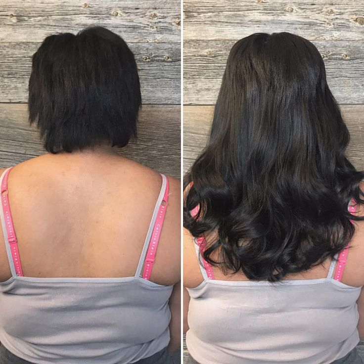 Holy Hannah! What a transformation! ASHELY slayed this tape-in hair extension install. Woweeeee! (She used 20 inch extensions from our private label collection. ❤️)