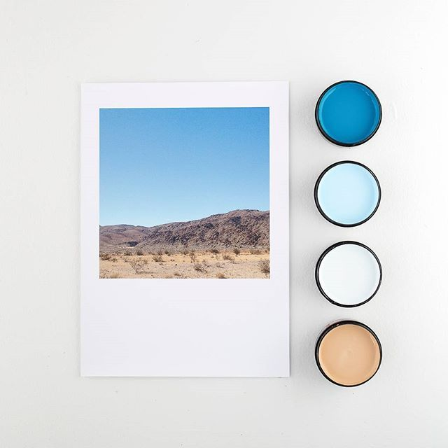 If road tripping is something you love, this series by @amberarmitage_ is a visual reminder. Desert print matched with (from top) Resene Discover, Resene Reflection, Resene Half Cut Glass and Resene Calibre. Print available from @endemicworld. #Resene #Resenecolourpalettegenerator #Resenelovescolour #artprints #colourmatching