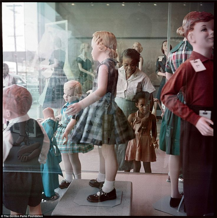 Life in segregated Alabama, 1956.  Photo by African-American photographer Gordon Parks for the a 1956  Life magazine photo-essay.